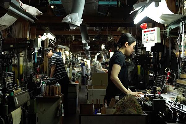 筑前織物 作業風景