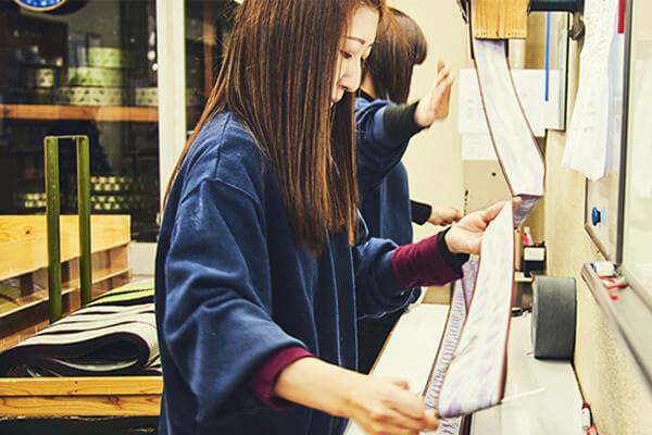 髙田織物 作業風景